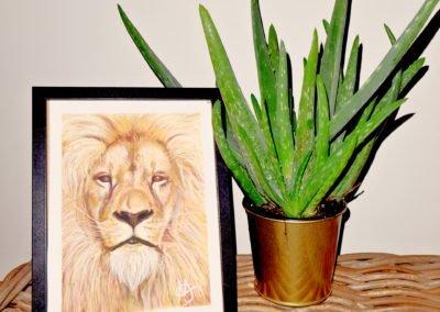 Courageous Lion Pastel