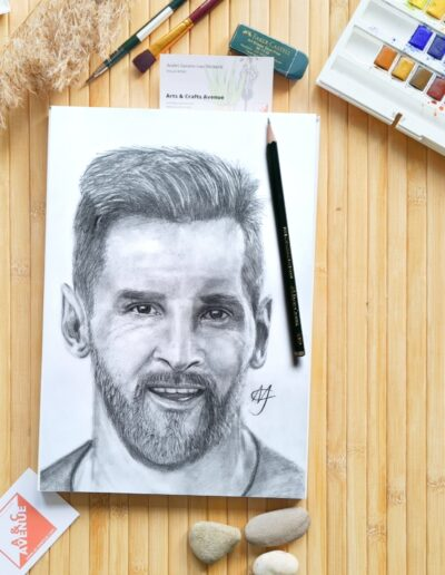 Messi with graphite