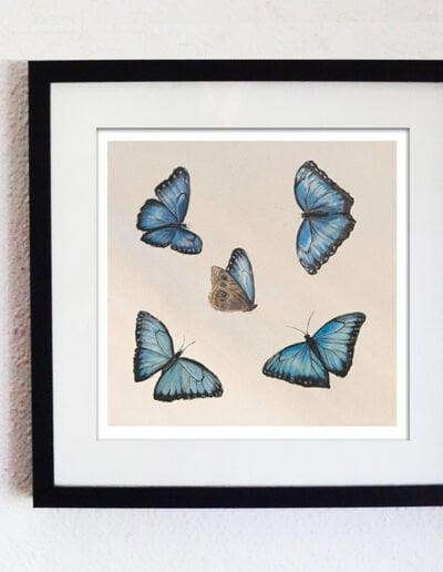 Finn's Dancing Butterflies Black Frame