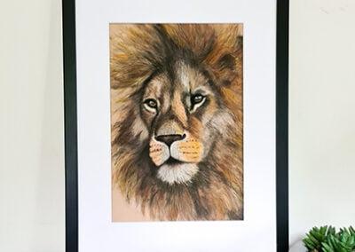 Afrikaanse Leeuw Schilderij