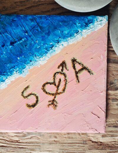 Beach Love Acryl Schilderij