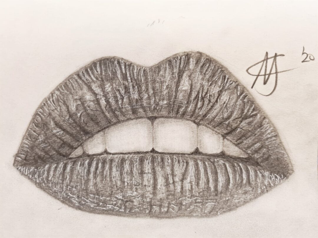 Realistische Lippen Schets