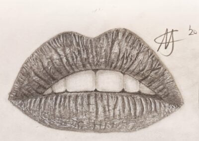 Realistic Lips Drawing
