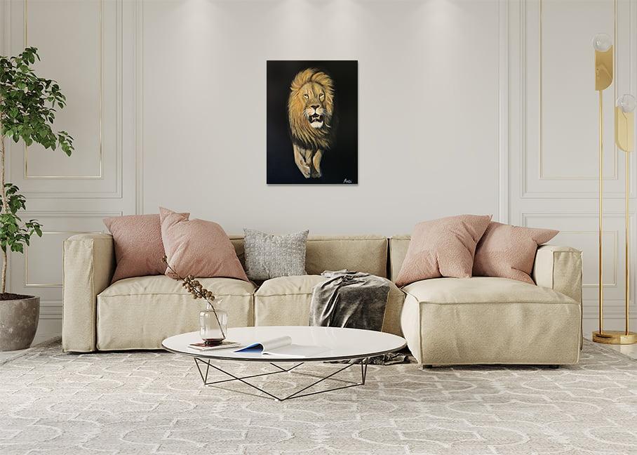 Lion Painting Mockup